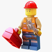 Lego Engineer - Rigged 3d model