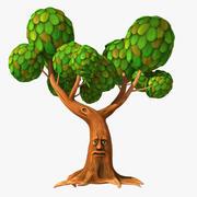 Cartoon Talking Tree 3d model
