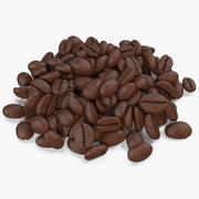 Кофе в зернах жареный 4 3d model