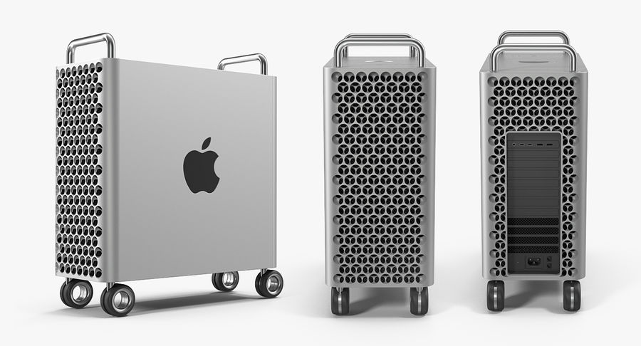 Mac Pro Wheels 2019 royalty-free 3d model - Preview no. 4