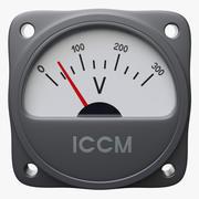 Procedural Analog Voltmeter 3d model