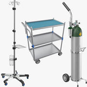 Trzy urządzenia medyczne 3d model