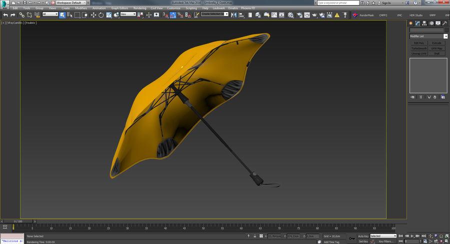 Umbrella Open 2 royalty-free 3d model - Preview no. 24
