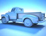 GENERIC White Retro Pickup 3d model