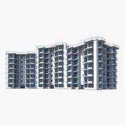 Hôtel de plage 3d model