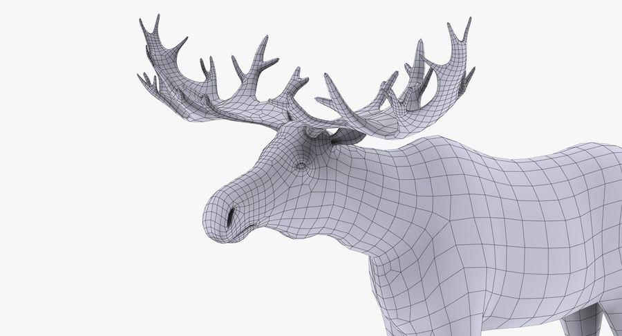 Łoś royalty-free 3d model - Preview no. 13