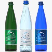 Glaswasserflasche 50 cl (0,5 l) in Farben 3d model