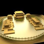Chiński starożytny budynek 3d model