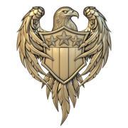 emblema 001 US modelo 3d