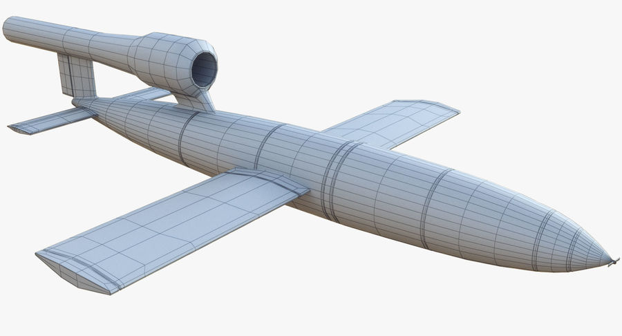 V1 Flying Rocket Bomb WW2 royalty-free 3d model - Preview no. 12