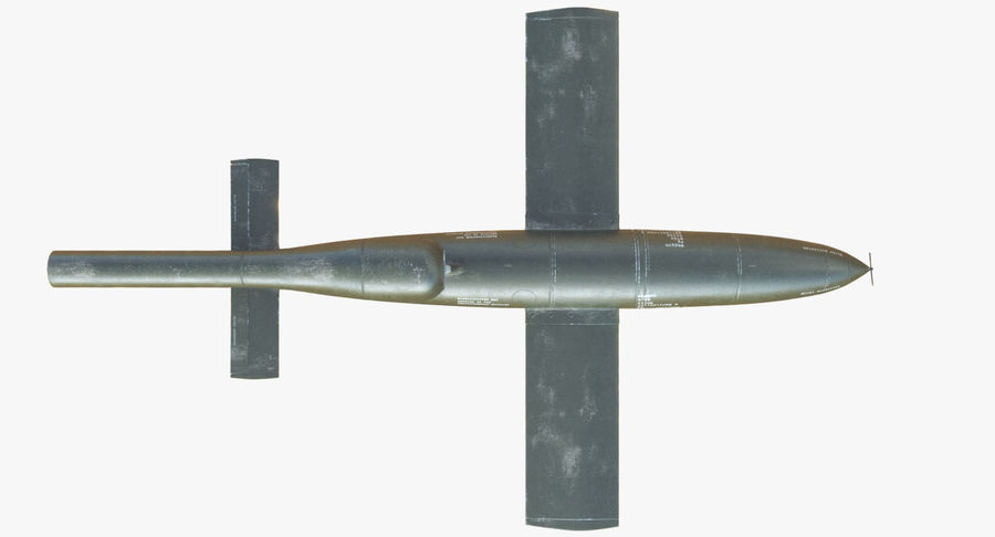 V1 Flying Rocket Bomb WW2 royalty-free 3d model - Preview no. 10