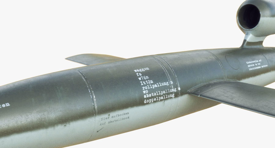 V1 Flying Rocket Bomb WW2 royalty-free 3d model - Preview no. 11