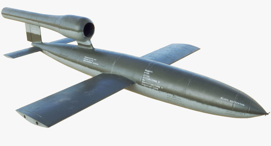 V1 Flying Rocket Bomb WW2 royalty-free 3d model - Preview no. 3