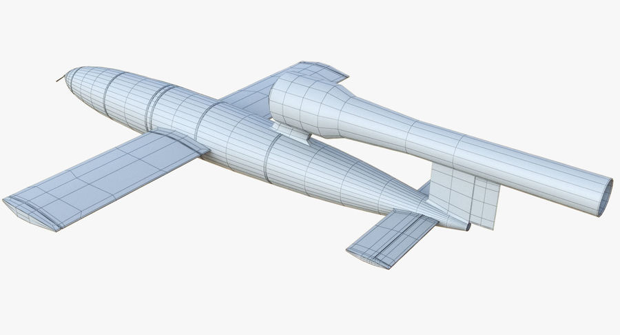 V1 Flying Rocket Bomb WW2 royalty-free 3d model - Preview no. 14