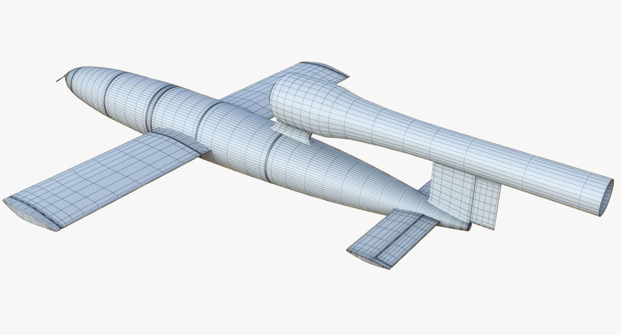 V1 Flying Rocket Bomb WW2 royalty-free 3d model - Preview no. 15