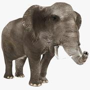 Elephant 02 Low Poly 3d model
