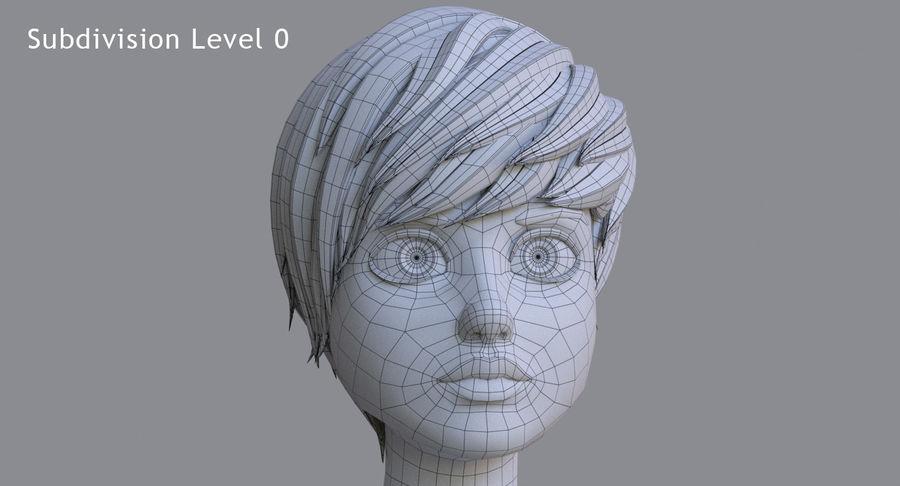 Genç kız çizgi film royalty-free 3d model - Preview no. 25