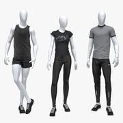 Sport suit set mixed 6 model 3d model