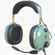 David Clark Headset Aviation 3d model