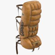 Eighties Ice Hockey Goalie Pad 3d model