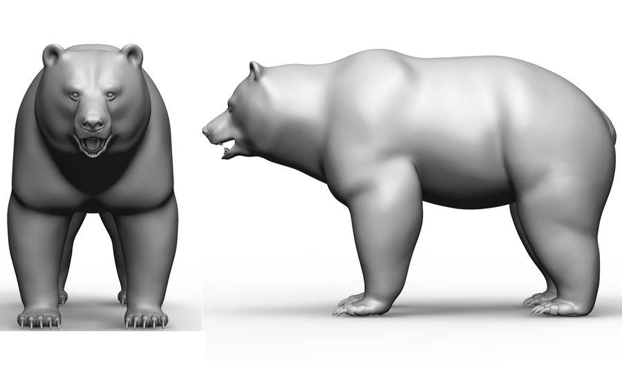 Malha base de urso royalty-free 3d model - Preview no. 2