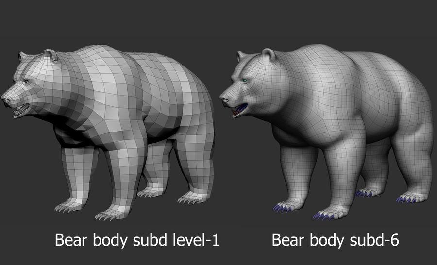 Malha base de urso royalty-free 3d model - Preview no. 7