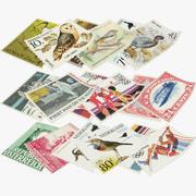 Collezione di francobolli V1 3d model