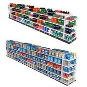 Estante para comprar bebidas y detergente para lavavajillas modelo 3d
