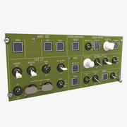 Panel de aviación modelo 3d