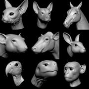 Animal Head Base Koleksiyonu vol.1 3d model