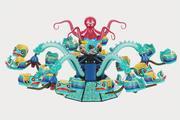 Attraction Octopus 3d model