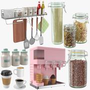キッチン用品調理器具コレクション 3d model