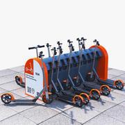 Parkering för elektrisk sparkcykeldelning 3d model