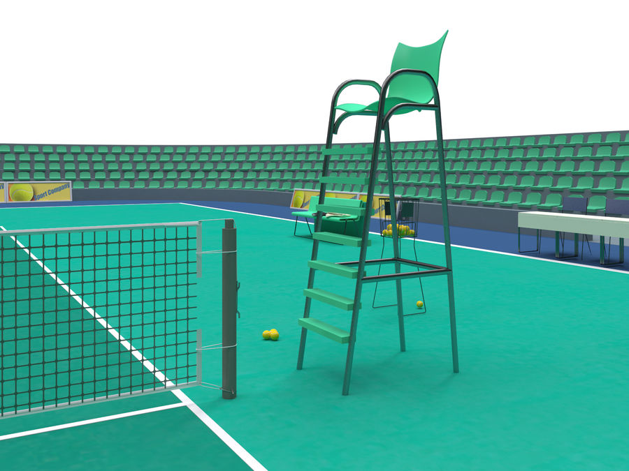 Tennis court royalty-free 3d model - Preview no. 3