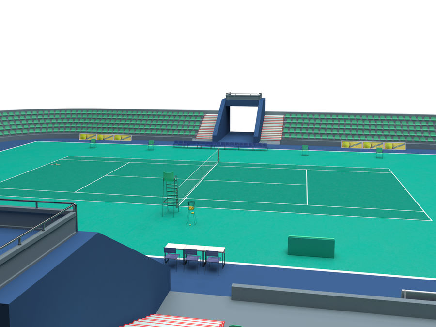 Tennis court royalty-free 3d model - Preview no. 10