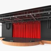 Zasłona teatru zamknięta 3d model