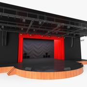 Zasłona teatru otwarta 3d model