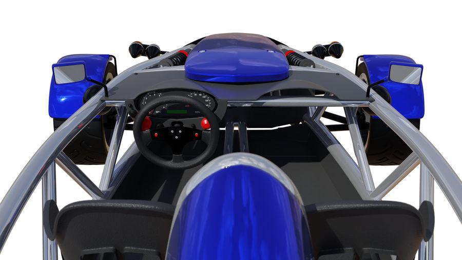 Wyścigowy samochód wyścigowy royalty-free 3d model - Preview no. 12