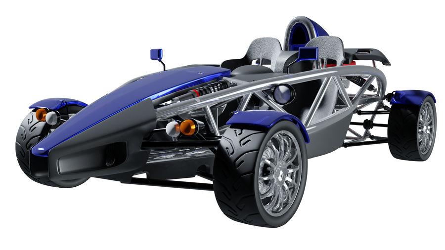 Wyścigowy samochód wyścigowy royalty-free 3d model - Preview no. 29