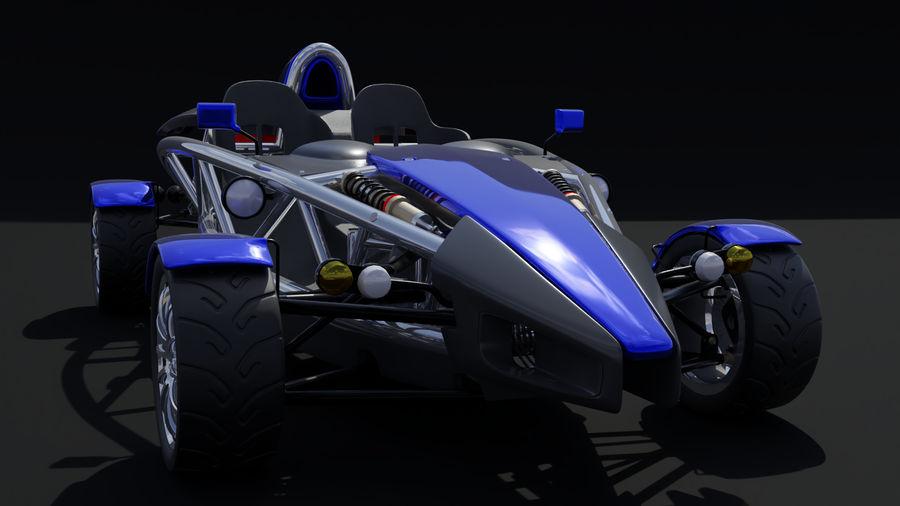 Wyścigowy samochód wyścigowy royalty-free 3d model - Preview no. 4