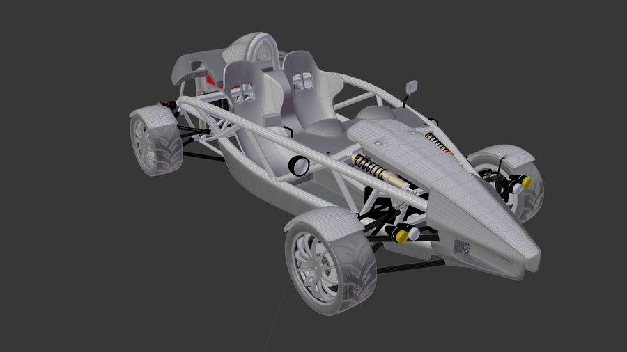 Wyścigowy samochód wyścigowy royalty-free 3d model - Preview no. 18