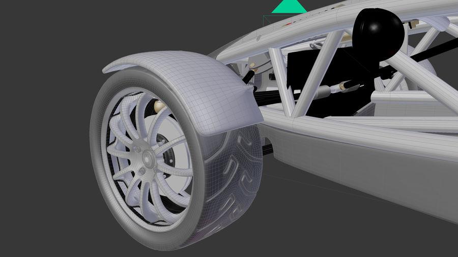 Wyścigowy samochód wyścigowy royalty-free 3d model - Preview no. 19
