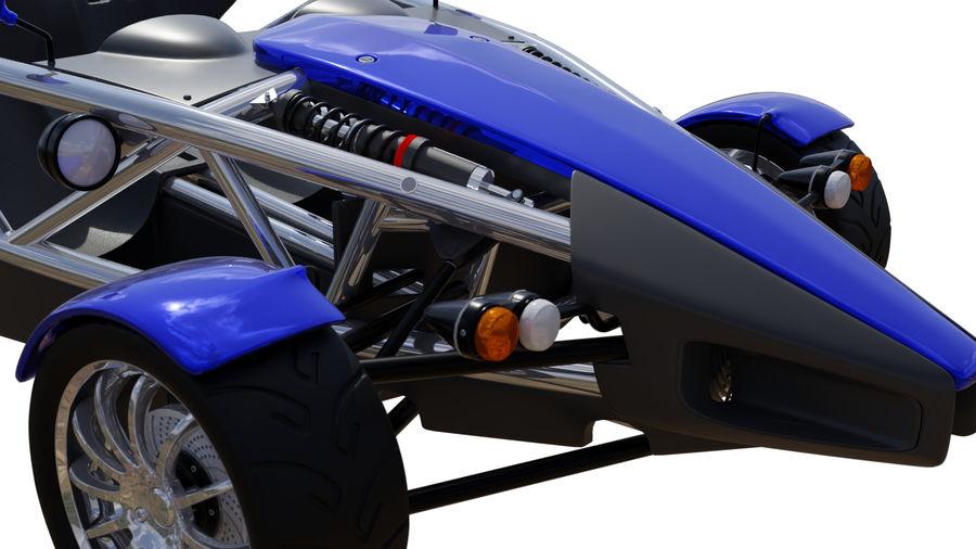 Wyścigowy samochód wyścigowy royalty-free 3d model - Preview no. 10