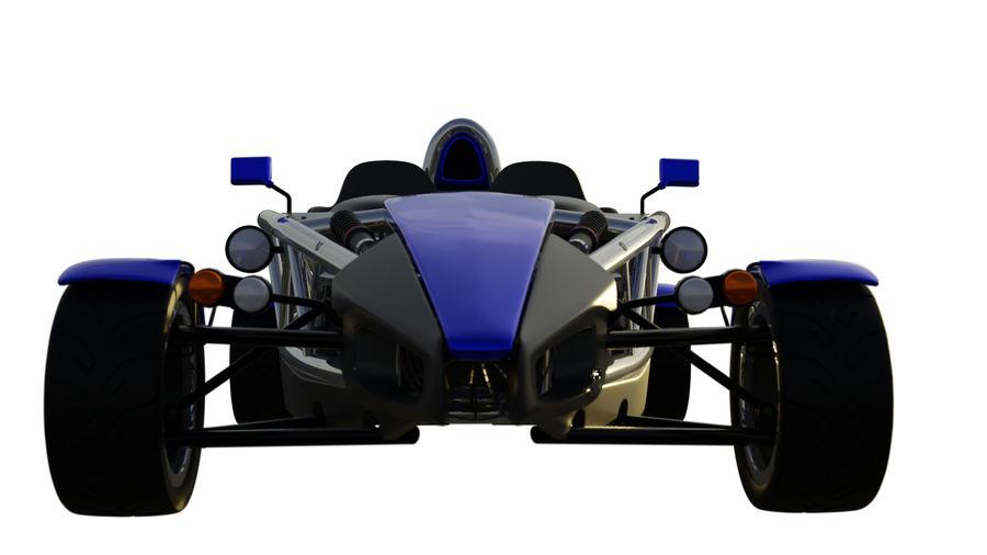 Wyścigowy samochód wyścigowy royalty-free 3d model - Preview no. 14