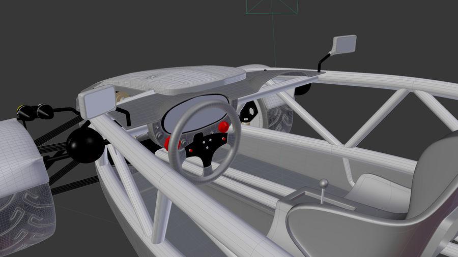 Wyścigowy samochód wyścigowy royalty-free 3d model - Preview no. 21