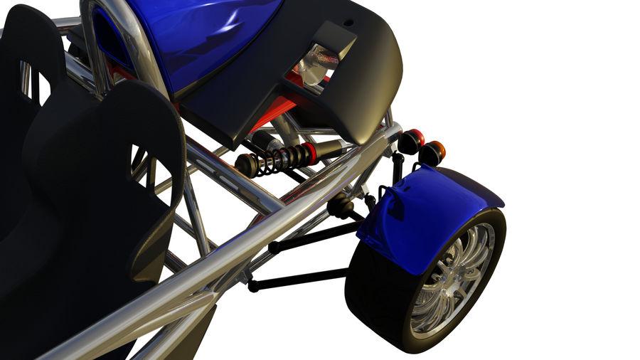 Wyścigowy samochód wyścigowy royalty-free 3d model - Preview no. 8
