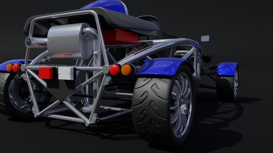 Wyścigowy samochód wyścigowy royalty-free 3d model - Preview no. 5