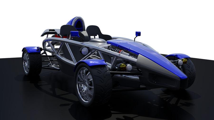 Wyścigowy samochód wyścigowy royalty-free 3d model - Preview no. 3