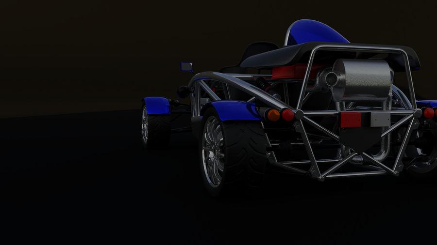 Wyścigowy samochód wyścigowy royalty-free 3d model - Preview no. 6