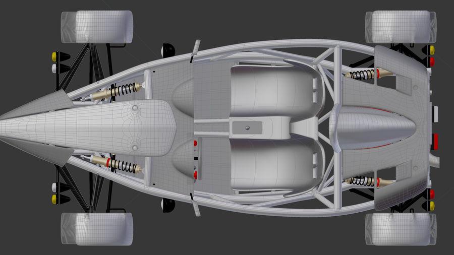 Wyścigowy samochód wyścigowy royalty-free 3d model - Preview no. 24